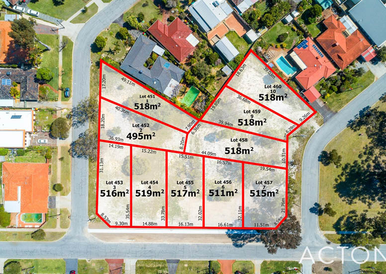 Seabrook/Wrigley/Jervois Street Dianella, vacant land for sale