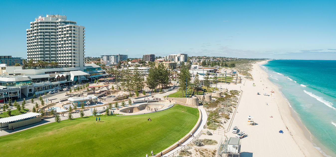 Scarborough beach foreshore has recently been transformed into a vibrant hub of activity.