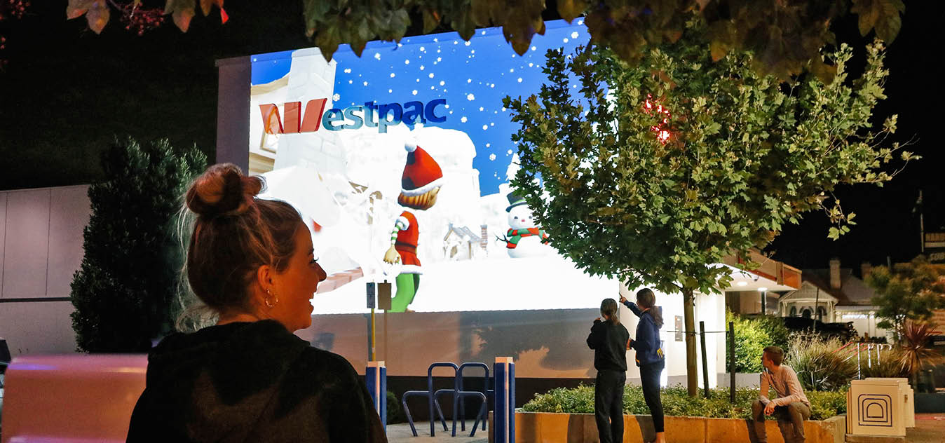 Christmas projections in Mount Lawley