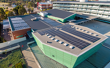A look at solar panels on the City's Administration Building