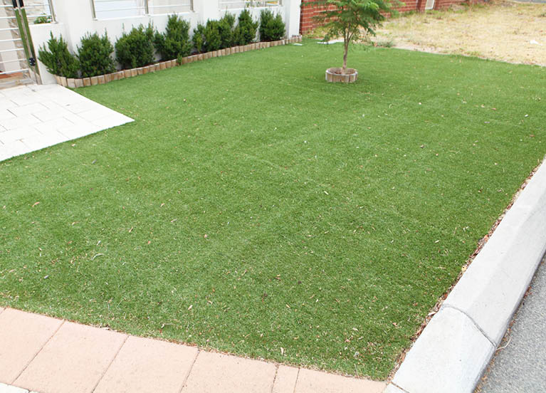 Artificial/synthetic lawn area