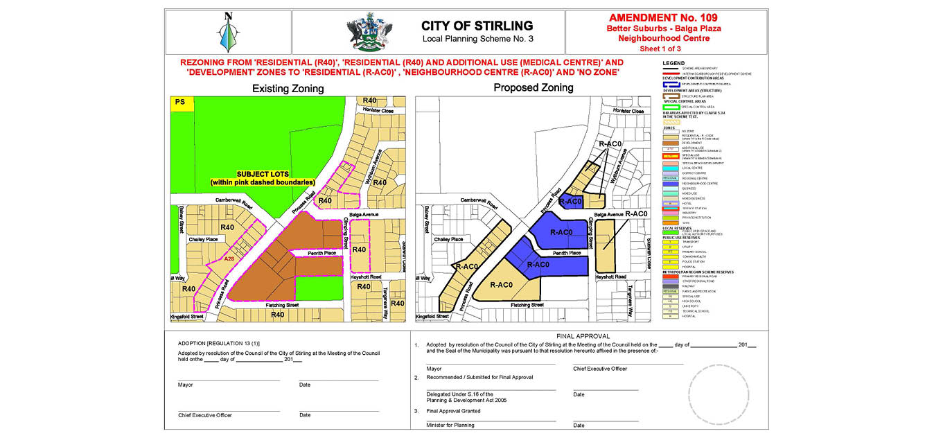 Better Suburbs - Balga Plaza Zoning Map